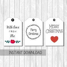 Tags digitali pdf download merry christmas/ di Lovelyprintable