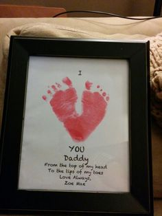 Pinterest success. Will be gift from my daughter to my husband for Father's Day! Diy Mother's Day Crafts, Father's Day Diy, Diy Father's Day Gifts, Mothers Day Crafts For Kids, Gifts For Kids, Fathers Day Cards, Easy Diy, Ideas, Home Decor