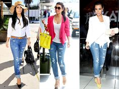 *Love her style in all of these photos, however the pink cardigan is amazing!