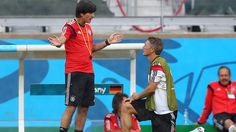 2014 FIFA World Cup™ - Photos - FIFA.com Joachim Loew (L), head coach of Germany talks to Bastian Schweinsteiger during the German national team training