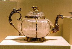 Antique rock crystal teapot