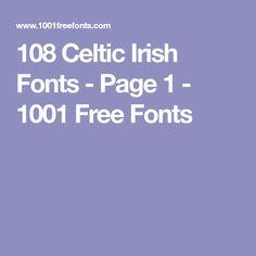 108 Celtic Irish Fonts - Page 1 - 1001 Free Fonts