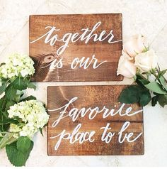 Together is our favorite place  set of 2 8x10 by LHCalligraphy, $65.00