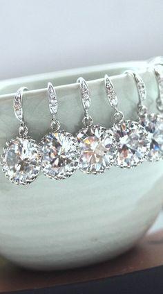 Bridesmaid earrings. So pretty!