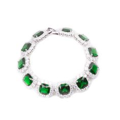 Compre online Pulseira Quadrado Zircônia Verde Semi Joia   por R$258,00. Faça seu pedido, pague-o online e receba onde quiser.