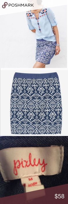 Stitch Fix Pixley Tenille Aztec Skirt Size M NWT Gorgeous Aztec printed Tenille skirt by Stitch Fix Pixley. Rear zip. Size Medium. NWT. Stitch Fix Skirts