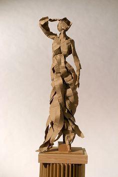 Alex Uribe Fine Art Corrugated Cardboard Sculpture