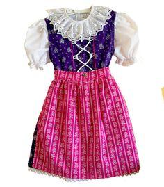 Mary  - Coala Dirndl (Lila/Pink) 2014 © Coala #Kinderdirndl, #Trachten #KinderDirndl http://coalashop.eu/collections/mit-der-tasche/products/mary-lila