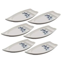 Set of 6 Sushi Serving Boat Plates Duck Sauce, New Set, Sushi, Boat, Plates, Kitchen, Licence Plates, Dinghy, Dishes