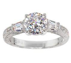 Tacori IV Sterling Silver Diamonique Epiphany Bloom Cut Baguette Ring 10 $355   eBay