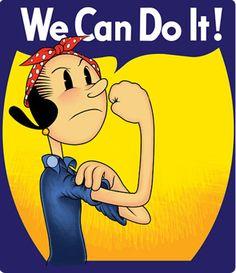 Cuarenta Versiones de la famosa imagen WE CAN DO IT.