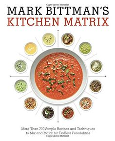 Mark Bittman's Kitchen Matrix: More Than 700 Simple Recipes and Techniques to Mix and Match for Endless Possibilities by Mark Bittman http://www.amazon.com/dp/0804188017/ref=cm_sw_r_pi_dp_MVAJwb0VC64Q4