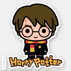 Shop Harry Potter Cartoon Character Art Sticker created by harrypotter. Personalize it with photos & text or purchase as is! Harry Potter Anime, Arte Do Harry Potter, Cute Harry Potter, Harry Potter Drawings, Harry Potter Characters, Cartoon Characters, Harry Potter Images, Cartoon Stickers, Cute Stickers