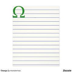 Omega Letterhead #Omega #Greek #Alphabet #Historic #Stationery #LetterHead