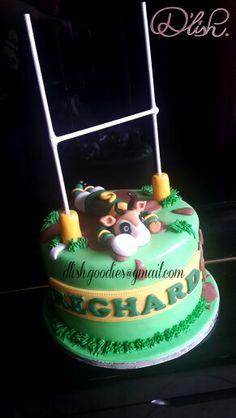 Springbok Rugby Cake