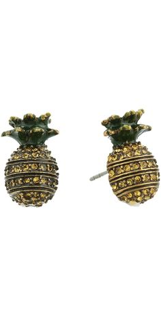 Fresh pick of the day!  Show off your good taste witht the delicious look of the #MarcJacobs #Charms #Tropical #Pineapple #Stud #Earrings. #jewelry