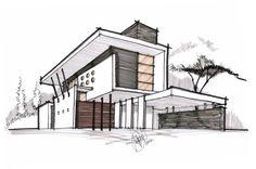 Image result for contemporary house design exterior sketch