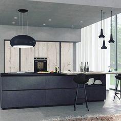 On instagram by mobiliemobili #homedesign #metsuke (o) http://ift.tt/1kOkHNB #cucina della Lube - #kitchen #home #house #casa #arredamento #interior #design #designer #interiordesign #black #nero #legno #wood #light #instahome #homedecor #homeidea  #home #italy #italian #madeinitaly #brescia #instacool #chair #modern #idea #cooking