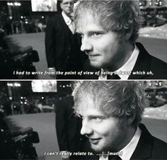 """Ed Sheeran on the song """"I See Fire"""" from The Hobbit. I love him<3"""
