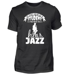 Jazz Musik Geschenk Jazzshirt Trompete T-Shirt T Shirt Designs, Jazz T Shirts, Form, Mens Tops, Material, Trumpet, Gift, Cotton, Tee Shirt Designs