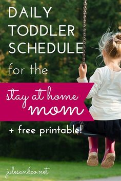 Do you find yourself at the end of the day with a cranky, tired toddler, and not one thing checked off of your to-do list? You, my friend are in need of a schedule! Read my tips on how to schedule your day at home with a toddler!