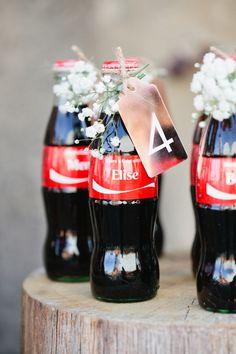 Share a Coke Escort Cards - by Kathryn Godwin for Ruffled - photo Laura Sumrak
