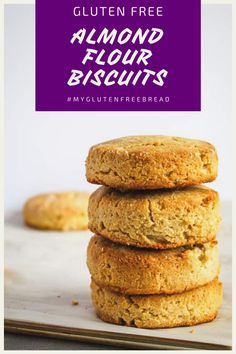 If you're looking for a grain free, gluten free biscuit, you have come to the right place! These almond flour biscuits are so light and so tender, they just might be your new favorite biscuit! They are the perfect biscuit for ANY meal! Gluten Free Rolls, Gluten Free Biscuits, Gluten Free Snacks, Foods With Gluten, Gluten Free Recipes, Bread Recipes, Keto Recipes, Dinner Recipes, Almond Flour Biscuits