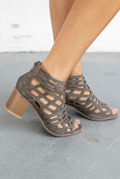 b66de17f85 Late Arrival Olive Caged Heels - Amazing Lace Caged Heels, Peep Toe Heels,  New