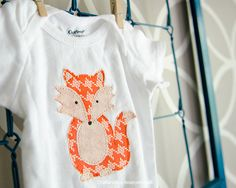 Fox Onesie tutorial. Seriously adorable! #baby