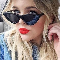 3c5fcdede62 Fashion Cat Eye Sunglasses Women Brand Designer Vintage Retro Sun glasses  Female Fashion Cateyes Sunglass UV400