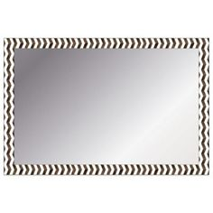 Chevron Wall Mirror in Ivory and Brown - BedBathandBeyond.com