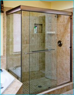 Custom Shower With Quot Atlantis Tile Quot 12 Quot X 24 Quot Stacked