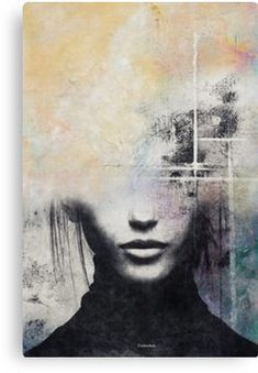 'The concept of beauty.' Canvas Print by Underdott Abstract Portrait, Canvas Prints, Art Prints, Beauty Art, Figure Painting, Face Art, Amazing Art, Watercolor Art, Illustration