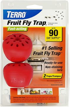 Amazon.com : TERRO T2502 Fruit Fly Trap – 2 traps : Garden & Outdoor Best Fruit Fly Trap, Bed Bug Trap, Patio Umbrella Lights, Mouse Traps, Fruit Flies, Fly Traps, Flying Insects, Body Brushing, It Gets Better