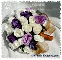 ivory/purple/lavender balloon arch | ... GORGEOUS Silk Floral Bride or Bridesmaid Bouquet with Lavender Purple