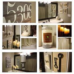 bathroom decor....blog gives how to DIY