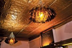 Multi-purpose pin. Awesome beer bottle light fixtures that hang in a Favorite Place of mine: Maria's on 31st in Chicago