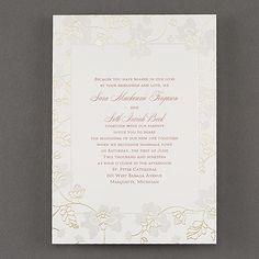 Delicate Blossoms - Invitation. Available at Persnickety Invitation Studio.