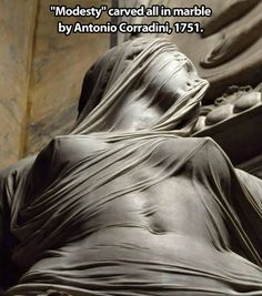 La Pudicizia The statuary for the Cappella Sansevero in Naples (see veiled Christ), Prince named Antonio Corradini, Venetian, nearly blind and Freemason, who managed to finish only the statue of Modesty Art Sculpture, Bernini Sculpture, Cemetery Art, Wow Art, Caravaggio, Art Plastique, Erotic Art, Art And Architecture, Oeuvre D'art