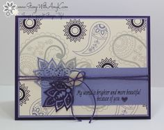 I used the Stampin' Up! Paisleys & Posies stamp set from the upcoming 2016 Holiday Catalog to create my card for the Stamp Ink Paper color challenge this week.  This is what I created: And here…
