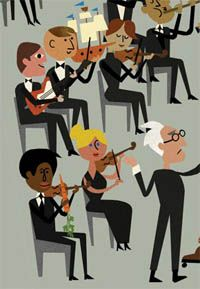 """Orchestra"" from McSweeney's The Goods, 2011. Christian Robinson 