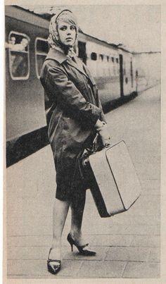 Mathilde on Amsterdam Central Station - 'Mathilde, Muze, Mythe, Mysterie' - The biography about Mathilde Willink by Lisette de Zoete - Photo Mathilde: Photographer unknown.