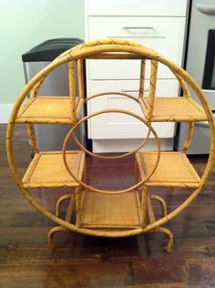 Vintage Wicker Plant Stand $25