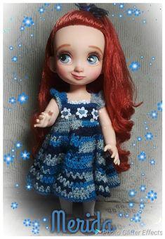 Custome Disney a animator doll Merida Disney Animator Doll, Disney Dolls, Dress Up Dolls, Doll Repaint, Merida, Elsa, Disney Princess, Disney Characters, Disney Princesses