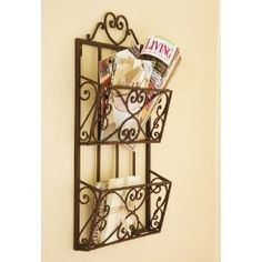 I've just found Heart Hanging Iron Magazine Rack. Traditional styled wall magazine rack, perfect for storing magazines, brochures or correspondance. Attractive wall mounted magazine store would add style to a kitchen or home-office. Toilet Accessories, Decorative Accessories, Home Accessories, Metal Baskets, Baskets On Wall, Kitchen Utensil Storage, Brochure Display, Mail Organizer Wall, Smart Tiles