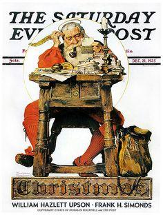 1935 ... Santa's List- Norman Rockwell | Flickr - Photo Sharing!