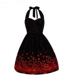 Halter Red Apple Rockabilly Dress