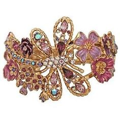 Kirks Folly Dawn's Early Light Dragonfly Bangle Bracelet