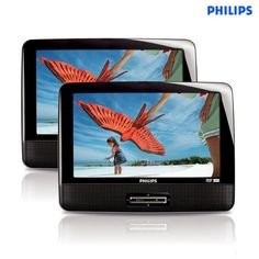 Philips 9' LCD Dual-Screen Portable DVD Player at 64% Savings off Retail! $64.00!