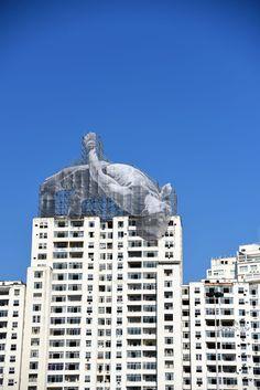 Instalação do artista francês #JR vista do #AterrodoFlamengo - Photo: #AlexandreMacieira | #Rio2016 #RiodeJaneiro #Brasil